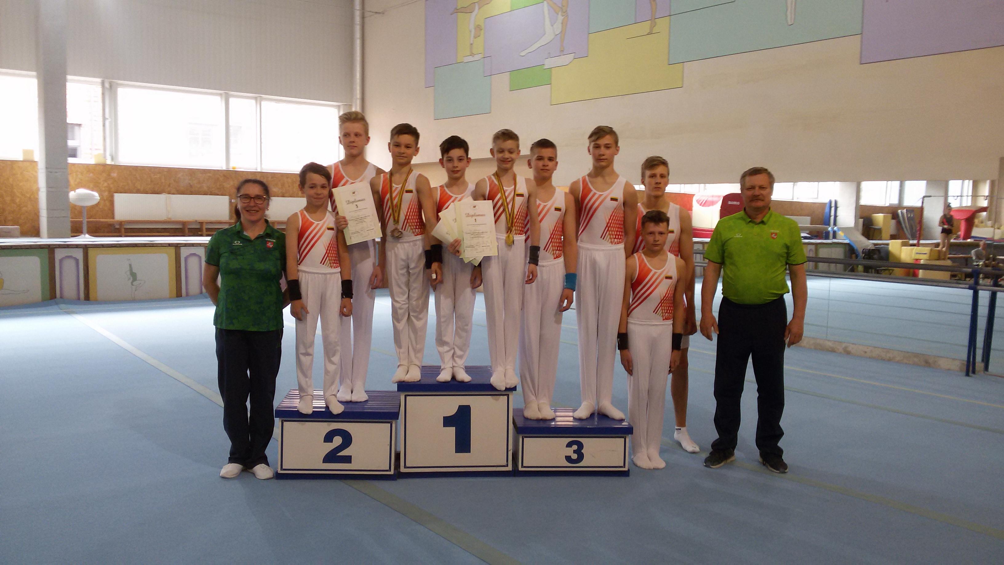 Klaipėdos komanda su treneriais